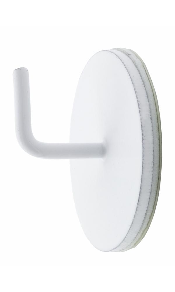 2 Supports Adhésifs Métal - Blanc - 25 mm