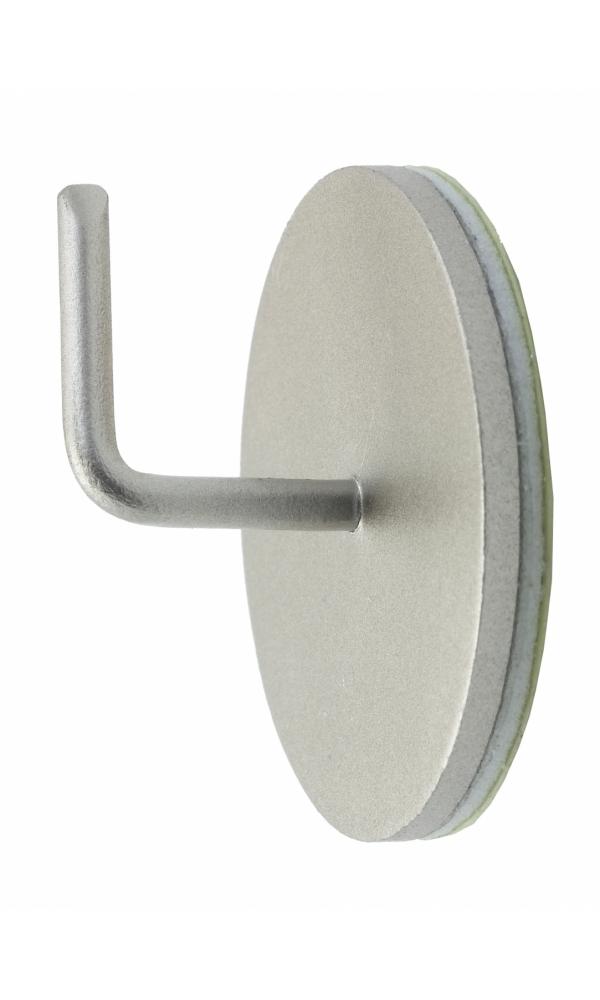 2 Supports Adhésifs Métal - Nickel - 25 mm