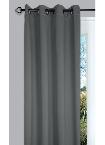Rideau occultant uni Night - Perle - 135 x 260 cm