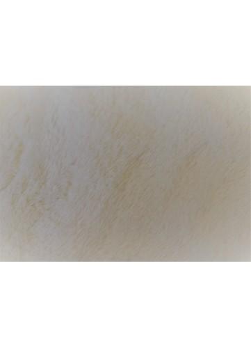Tissu Polaire à Poils longs en 100 % Polyester (Ecru)