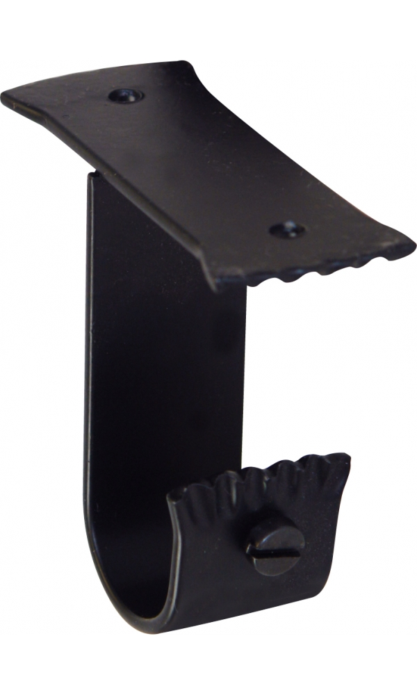Support Plafond en Fer Forgé Noir (Noir)