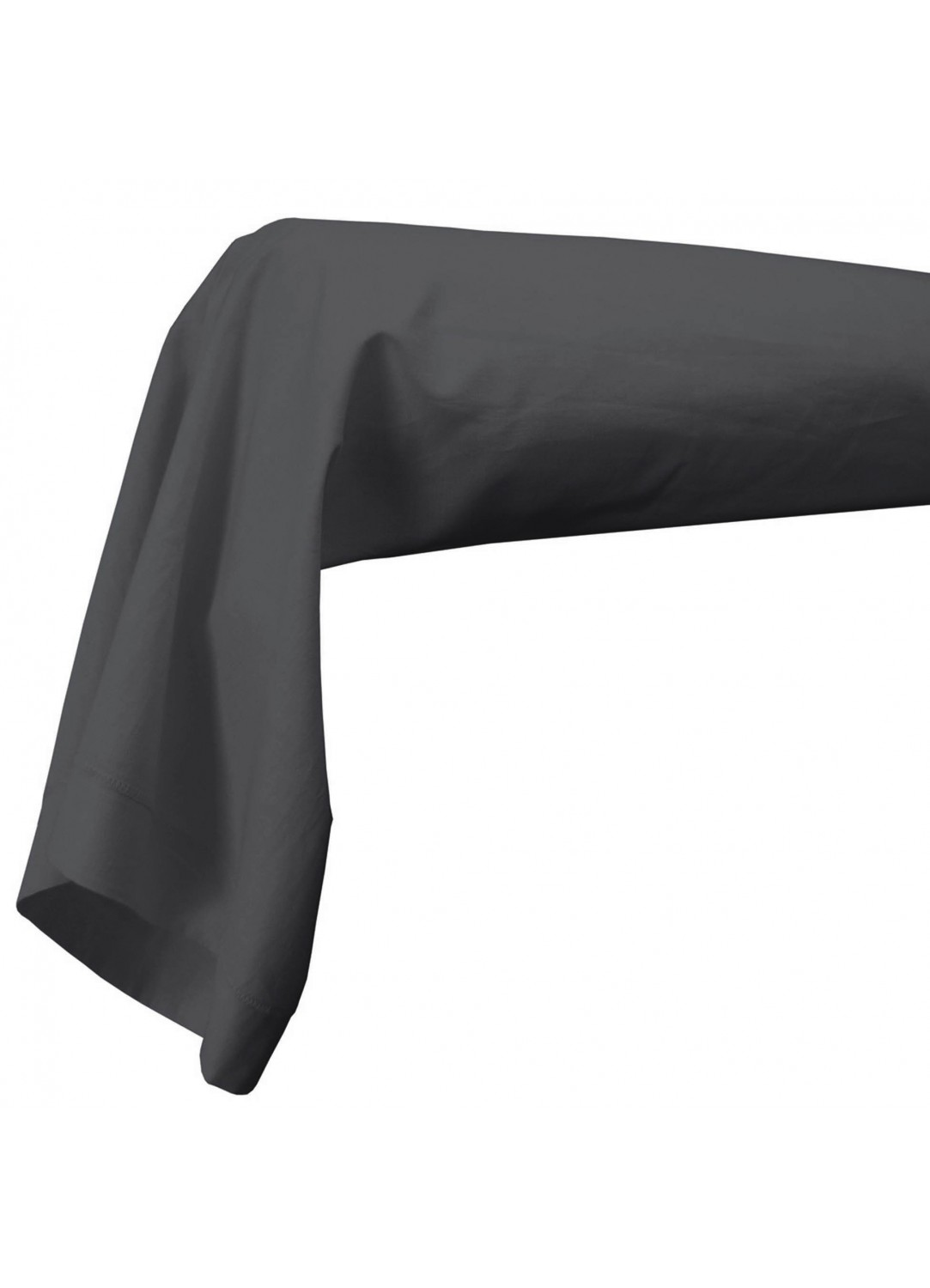 Housse de traversin percale 86 x 190 cm unie (Anthracite)