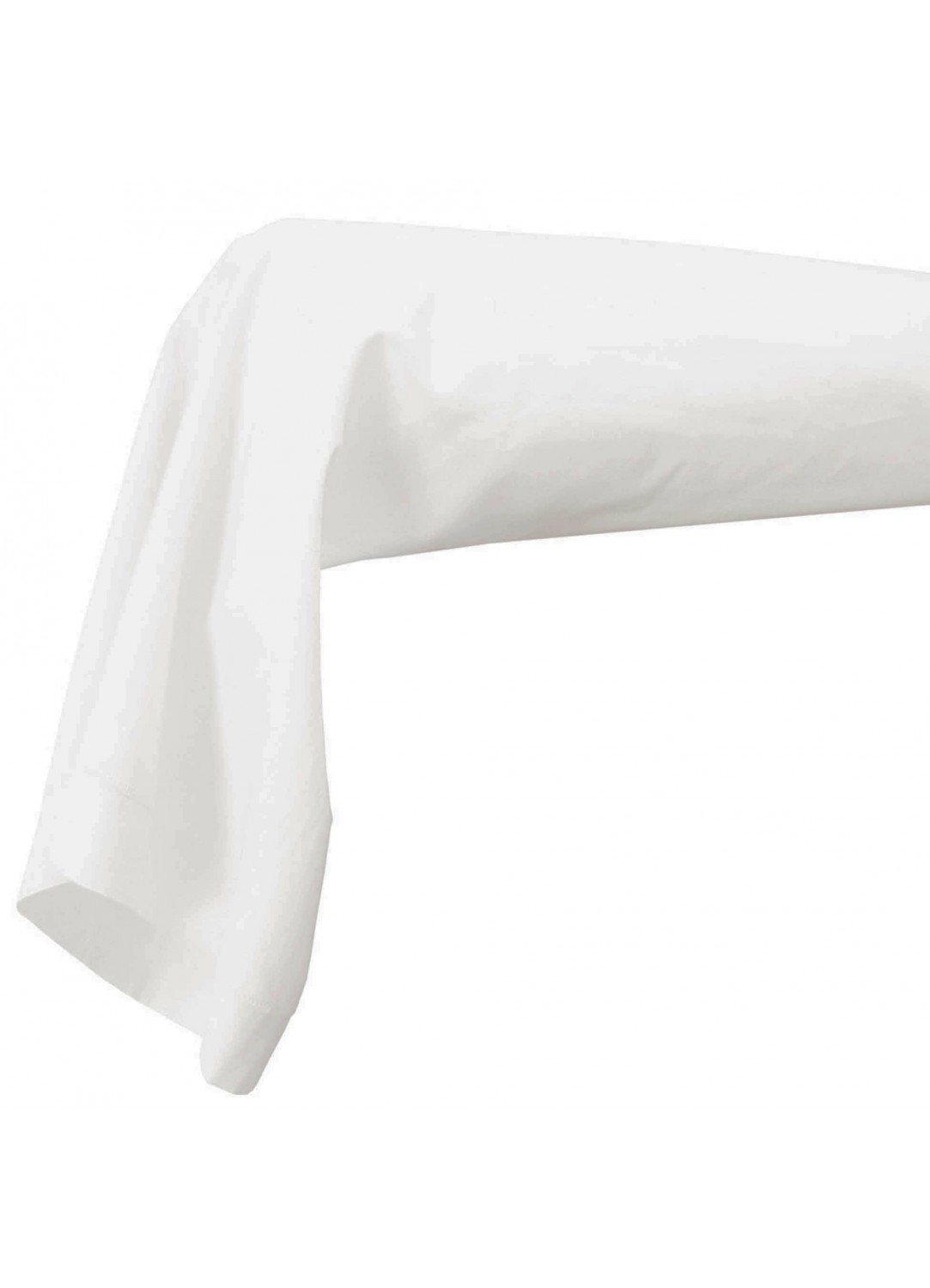 Housse de traversin percale 86 x 140 cm (Blanc)