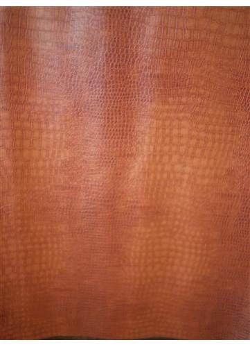 Tissu Effet Peau de Croco Simili Cuir  (Camel)