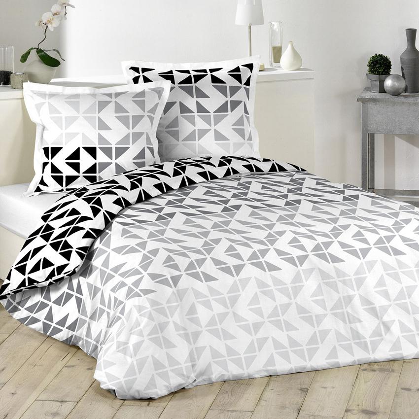 parure de lit avec imprim g om trique sans homemaison vente en ligne parures de lit. Black Bedroom Furniture Sets. Home Design Ideas