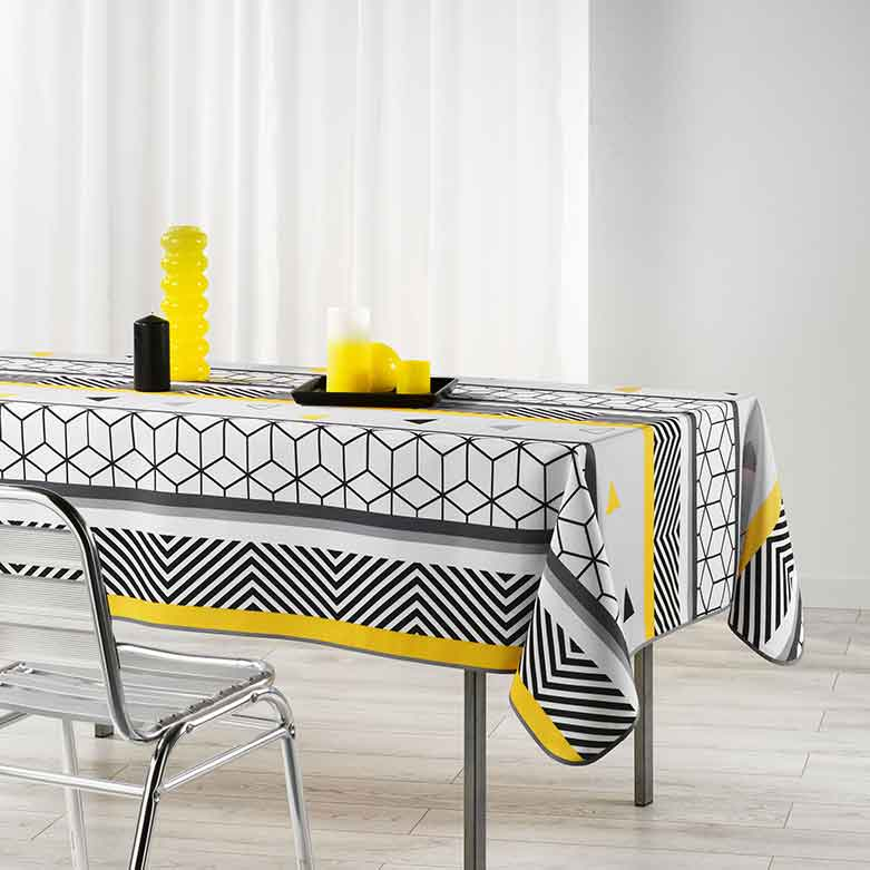 nappe rectangulaire graphic sans homemaison vente en ligne nappes rectangulaires. Black Bedroom Furniture Sets. Home Design Ideas