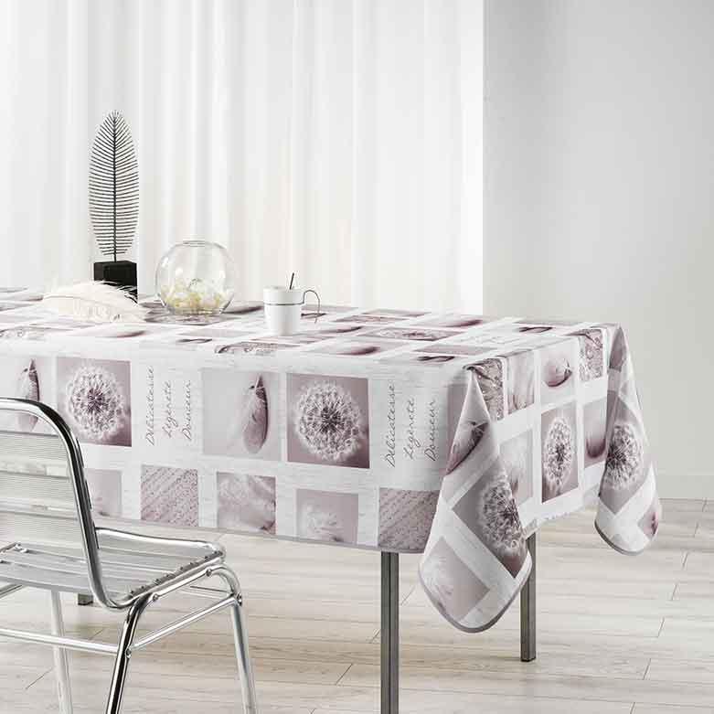 nappe rectangulaire esprit naturel blanc homemaison vente en ligne nappes rectangulaires. Black Bedroom Furniture Sets. Home Design Ideas