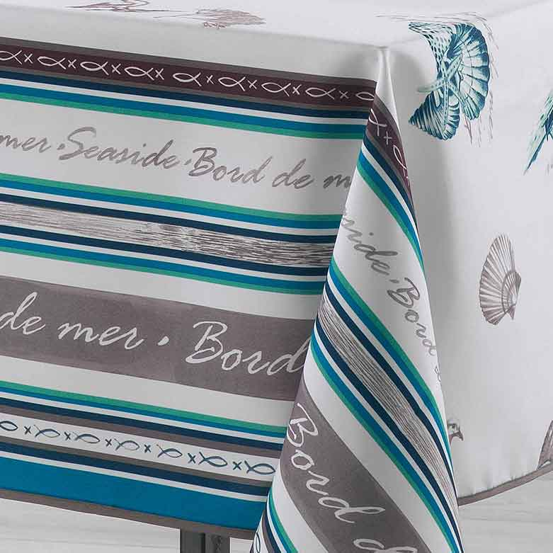 nappe rectangulaire bord de mer turquoise homemaison vente en ligne nappes rectangulaires. Black Bedroom Furniture Sets. Home Design Ideas