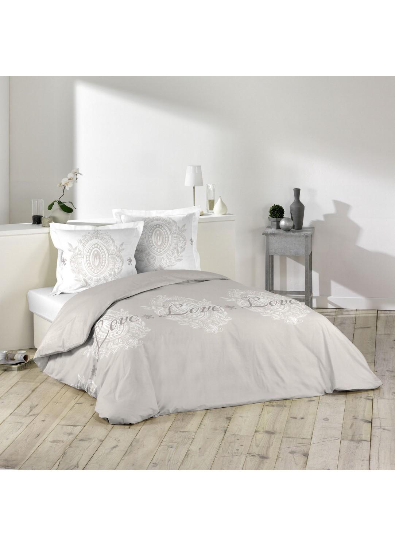 parure de lit impression romantique sans homemaison vente en ligne parures de lit. Black Bedroom Furniture Sets. Home Design Ideas