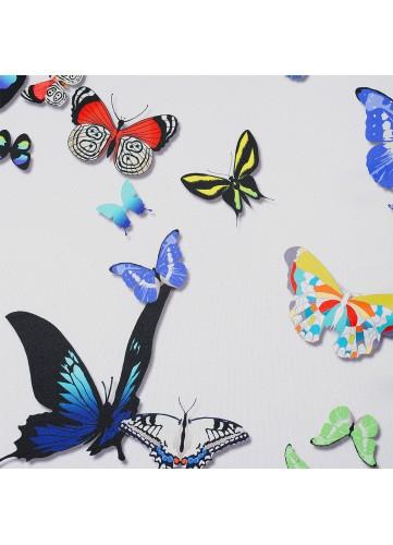 Tissu obscurcissant motif papillons