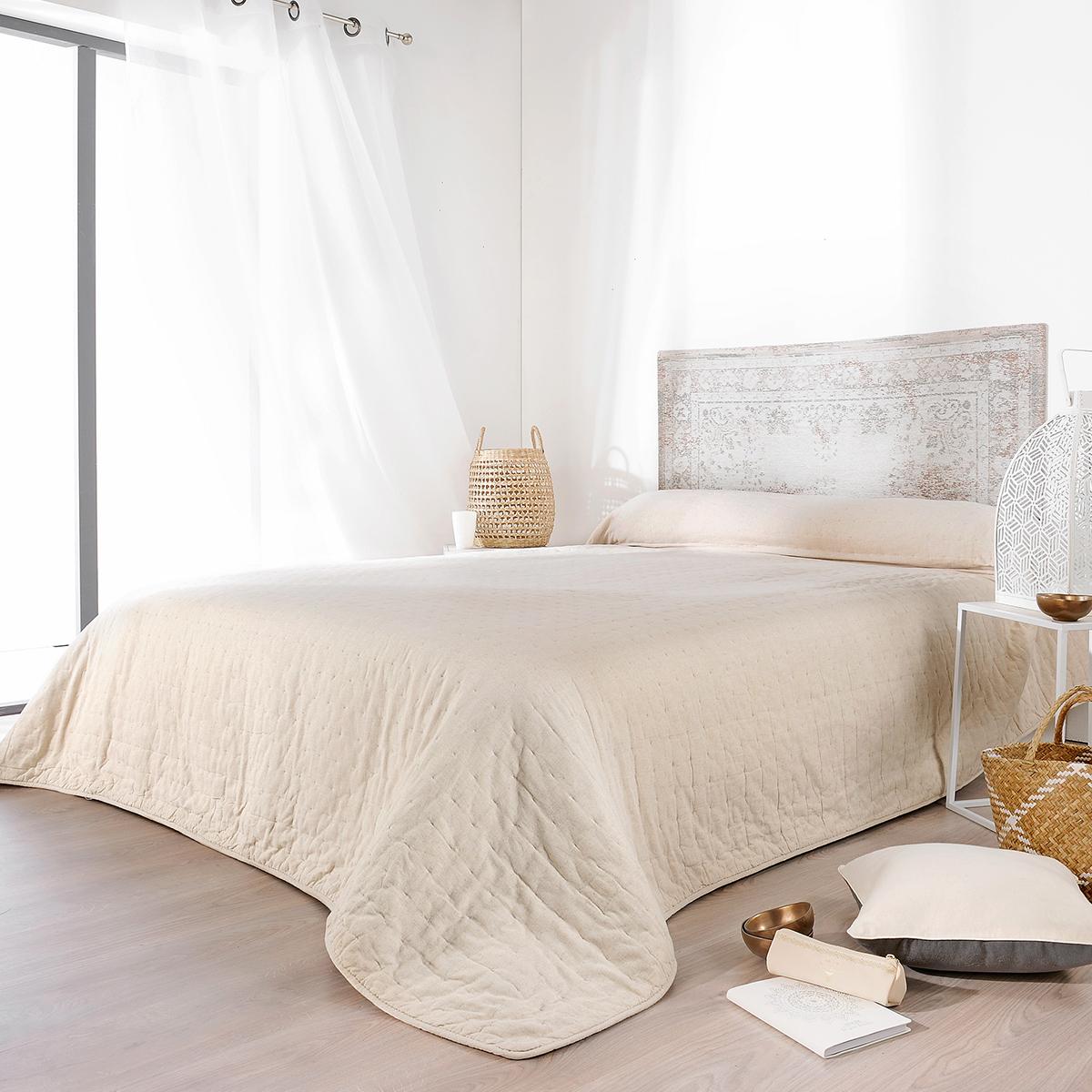 Jeté de lit naturel (Beige)