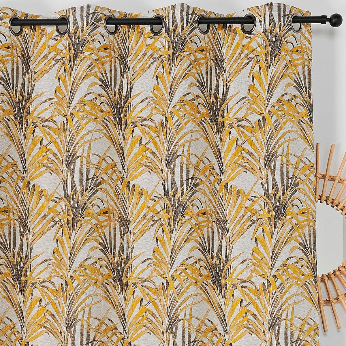 Cortina impresiones exóticas (Amarillo)