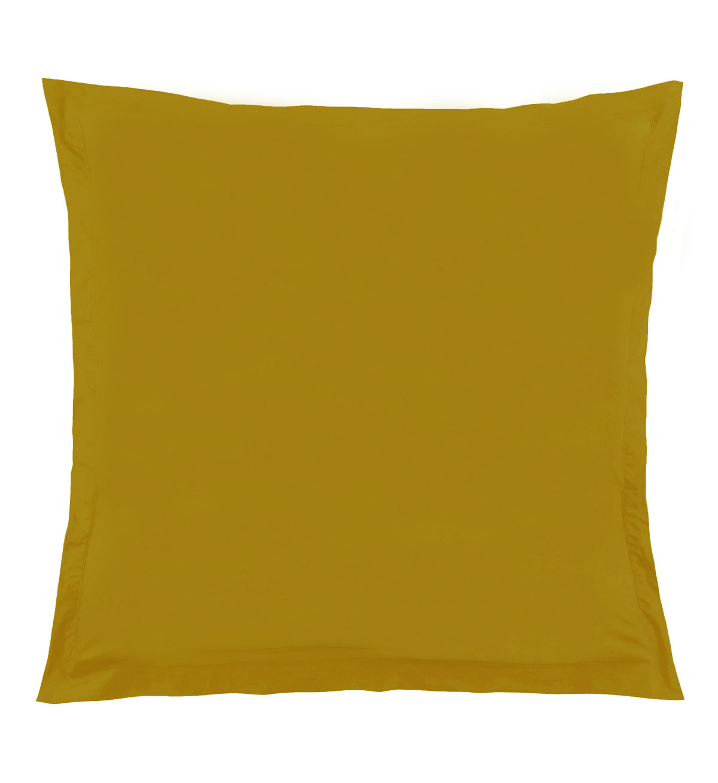 Taie d'Oreiller Unie en 100 % Coton - Moutarde - 65 x 65 cm