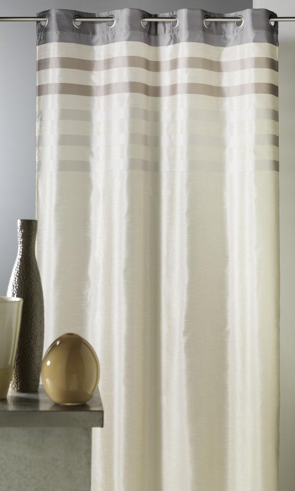 Cortina en shantung color con paramento tono sobre tono for Cortinas en tonos grises