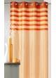 Rideau en shantung coloré avec parement ton sur ton  Orange