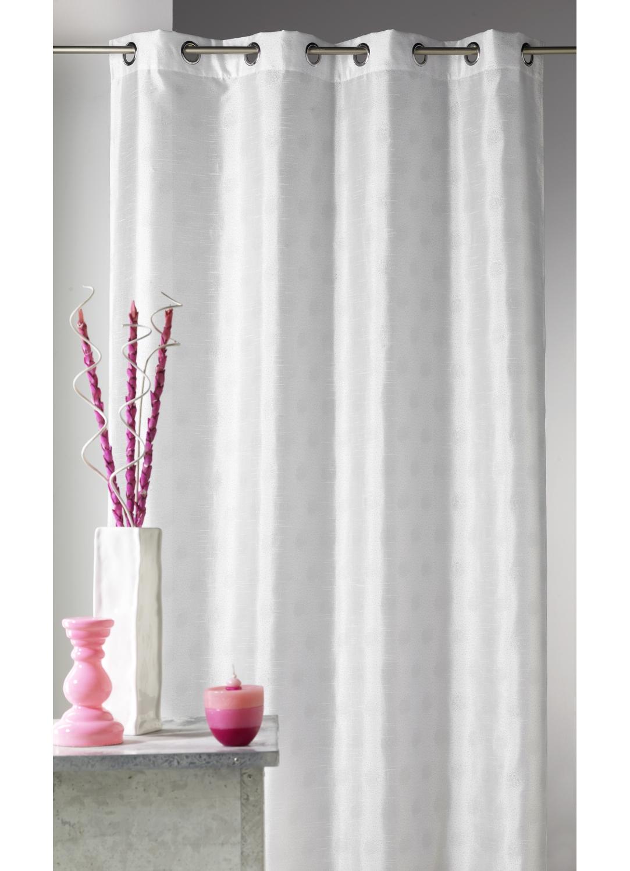 rideau d ameublement shantung imprime petit points taupe. Black Bedroom Furniture Sets. Home Design Ideas