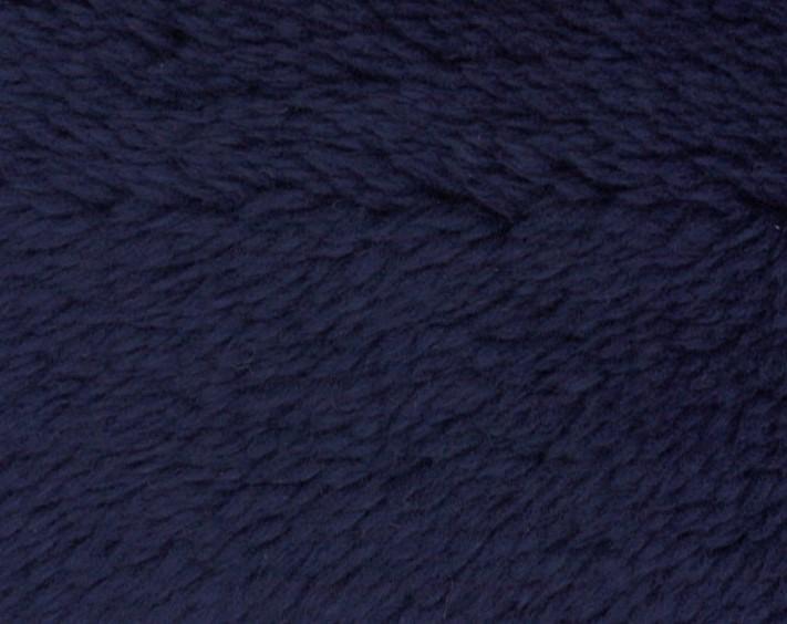 Tissu Polaire à Poils longs en 100 % Polyester - Bleu Marine - 1,6 m