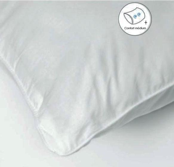Oreiller Carré Doux et Ferme - Blanc - 65 x 65 cm