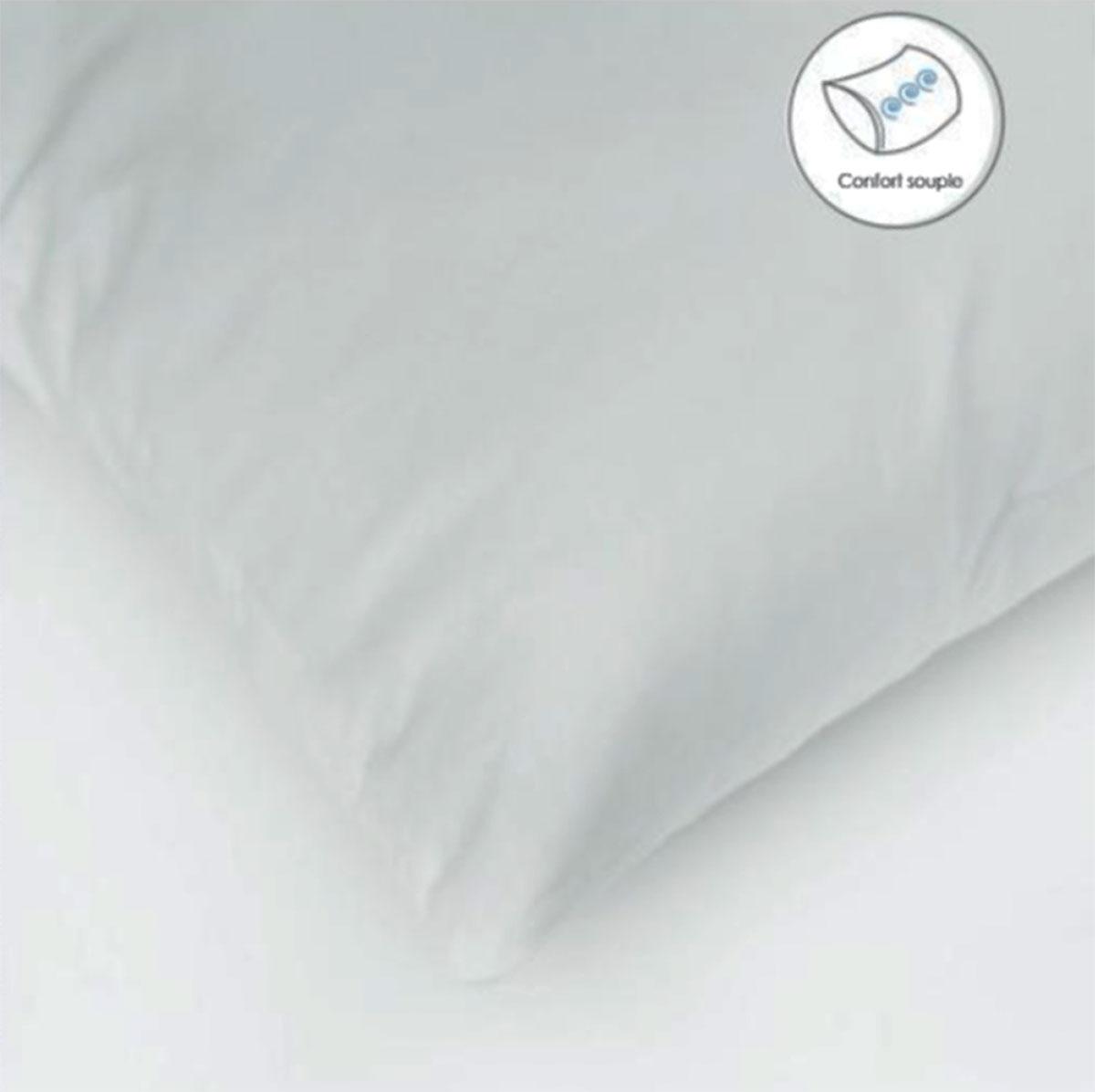 Oreiller Carré Enveloppe Coton Protection - Blanc - 60 x 60cm