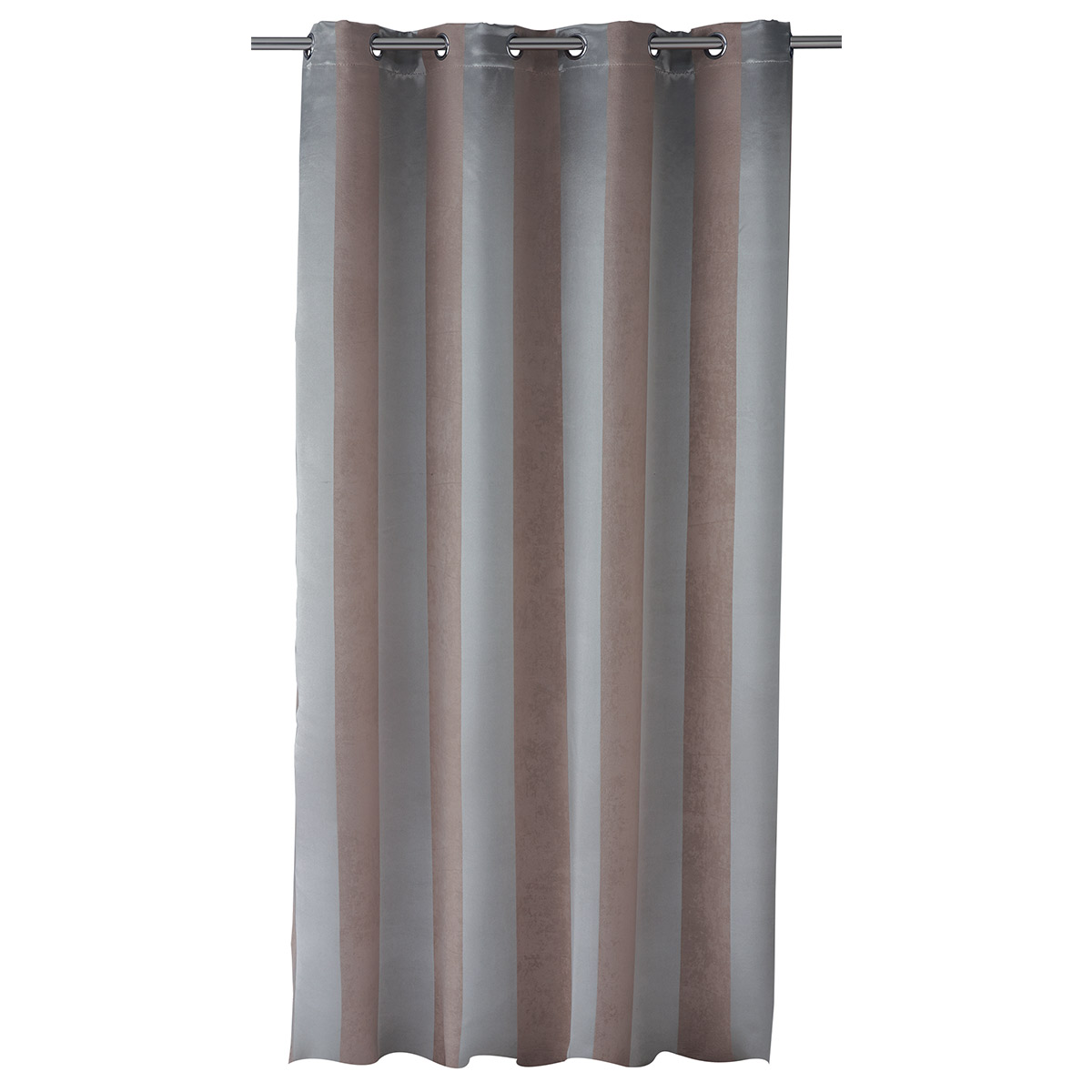 Rideau Obscurcissant Bandes Satin (Taupe)