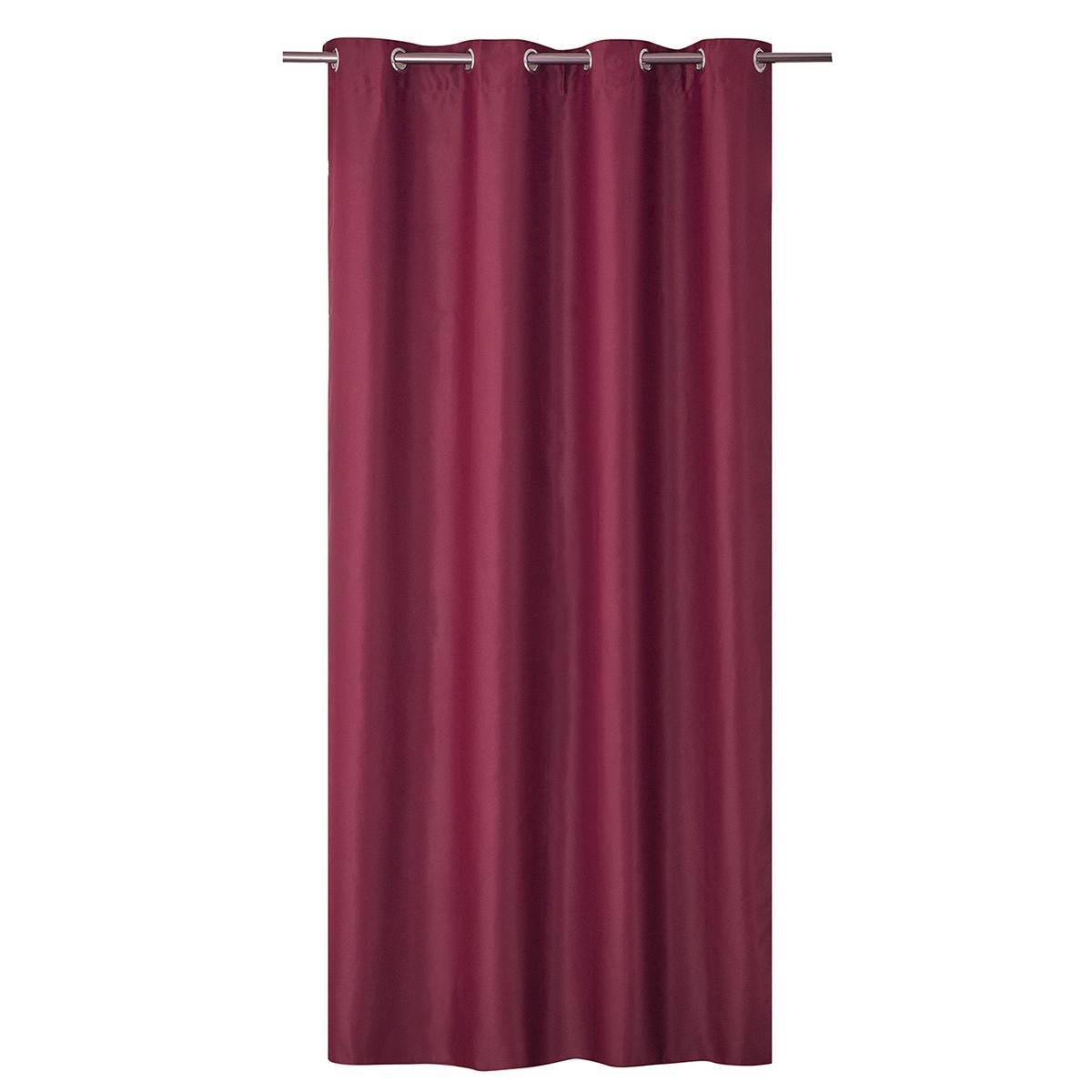 Rideau Occultant Uni Grande Largeur - Rouge - 240 x 260 cm