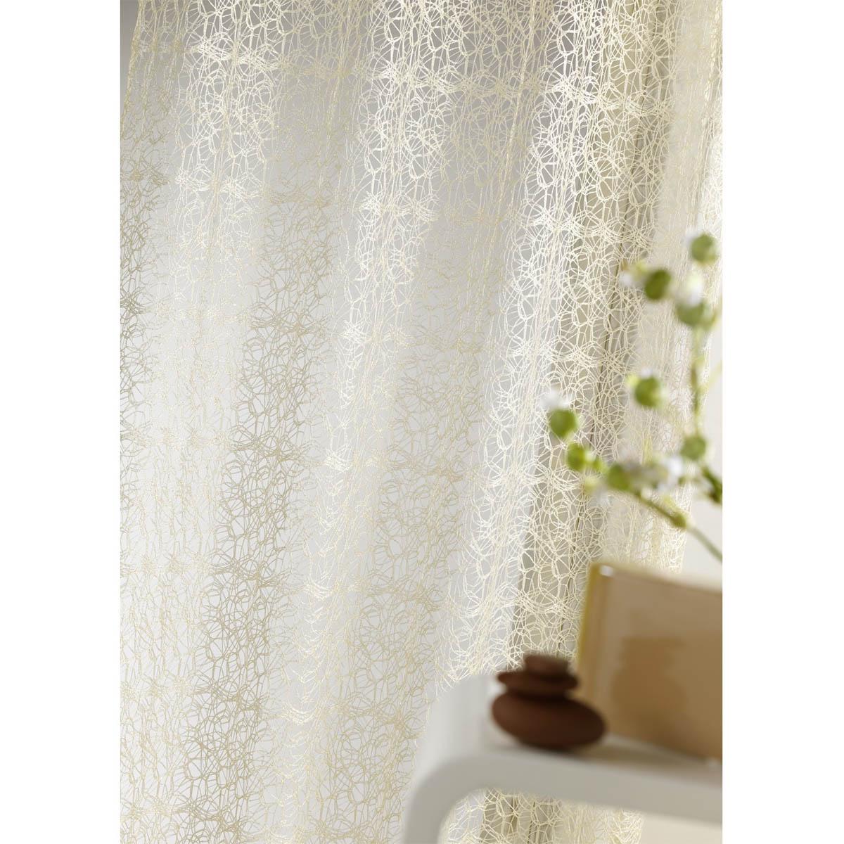 Vorhang aus einem Stricknetz (Weiß)