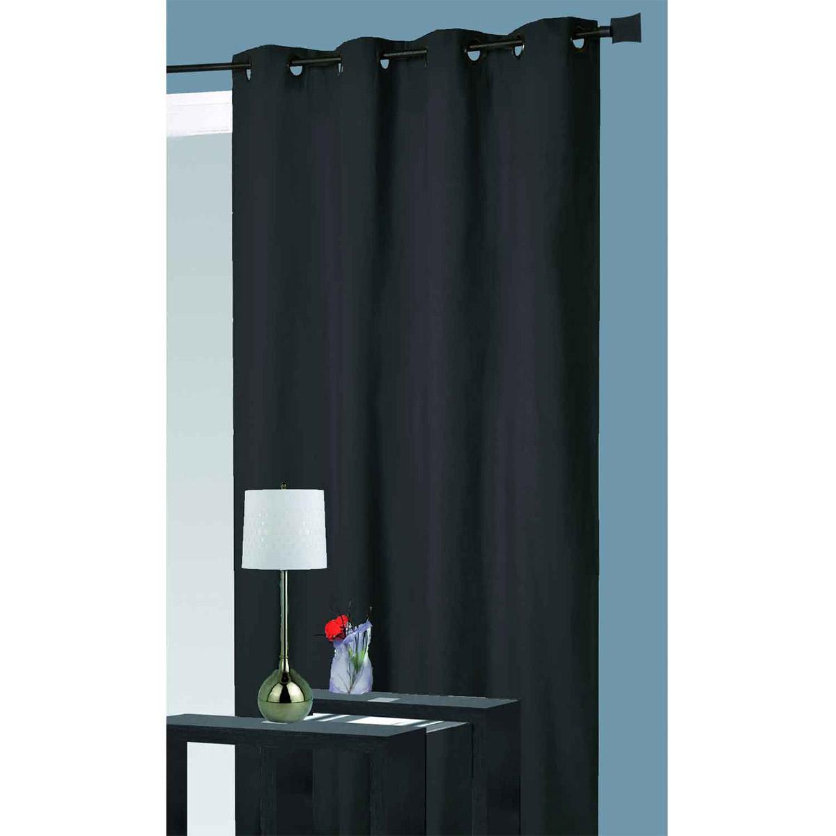 Rideau Isolant Thermique - Noir - 140 x 260 cm