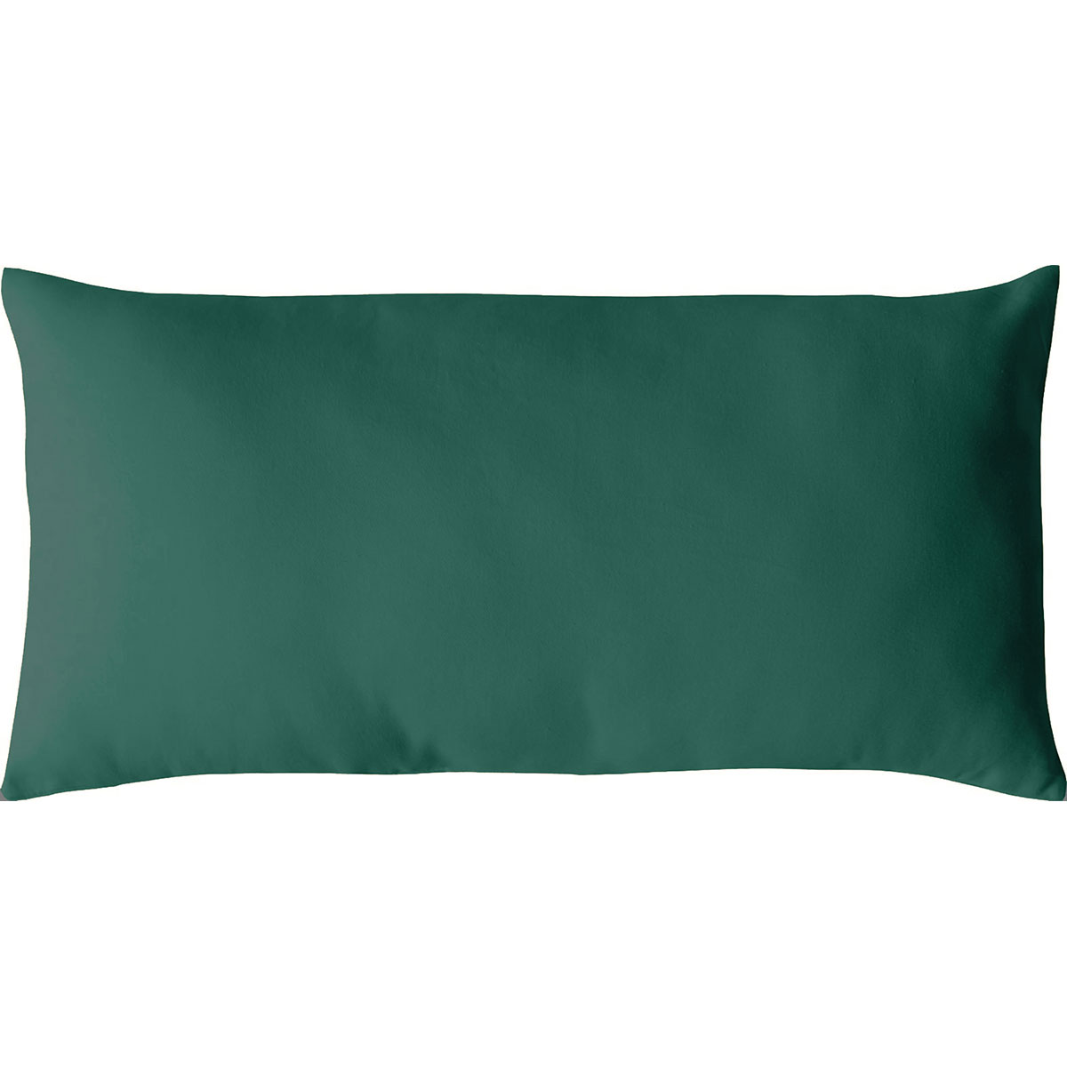 Coussin non déhoussable en coton uni  (vert foncé)