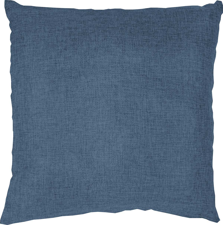Coussin Déhoussable Uni à Effet Chiné - Bleu Jean - 40 x 40 cm