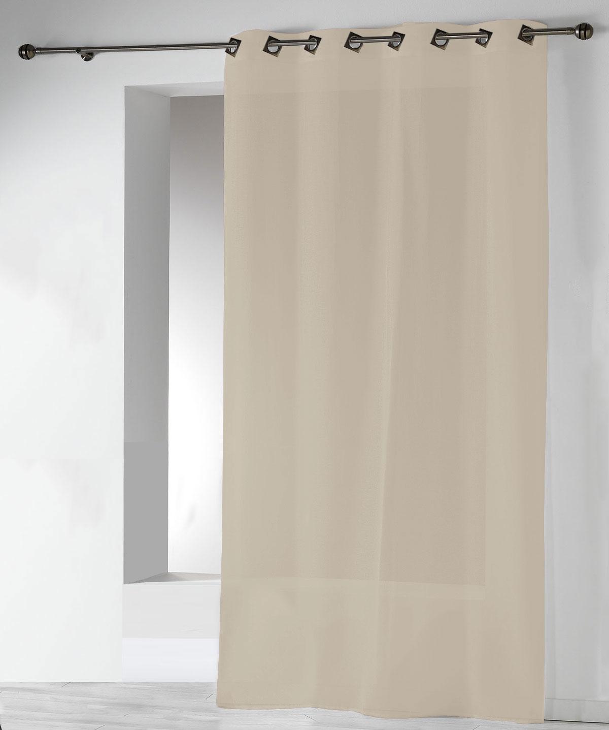 Visillos Lisos en Estameña con Ollaos (Crema)