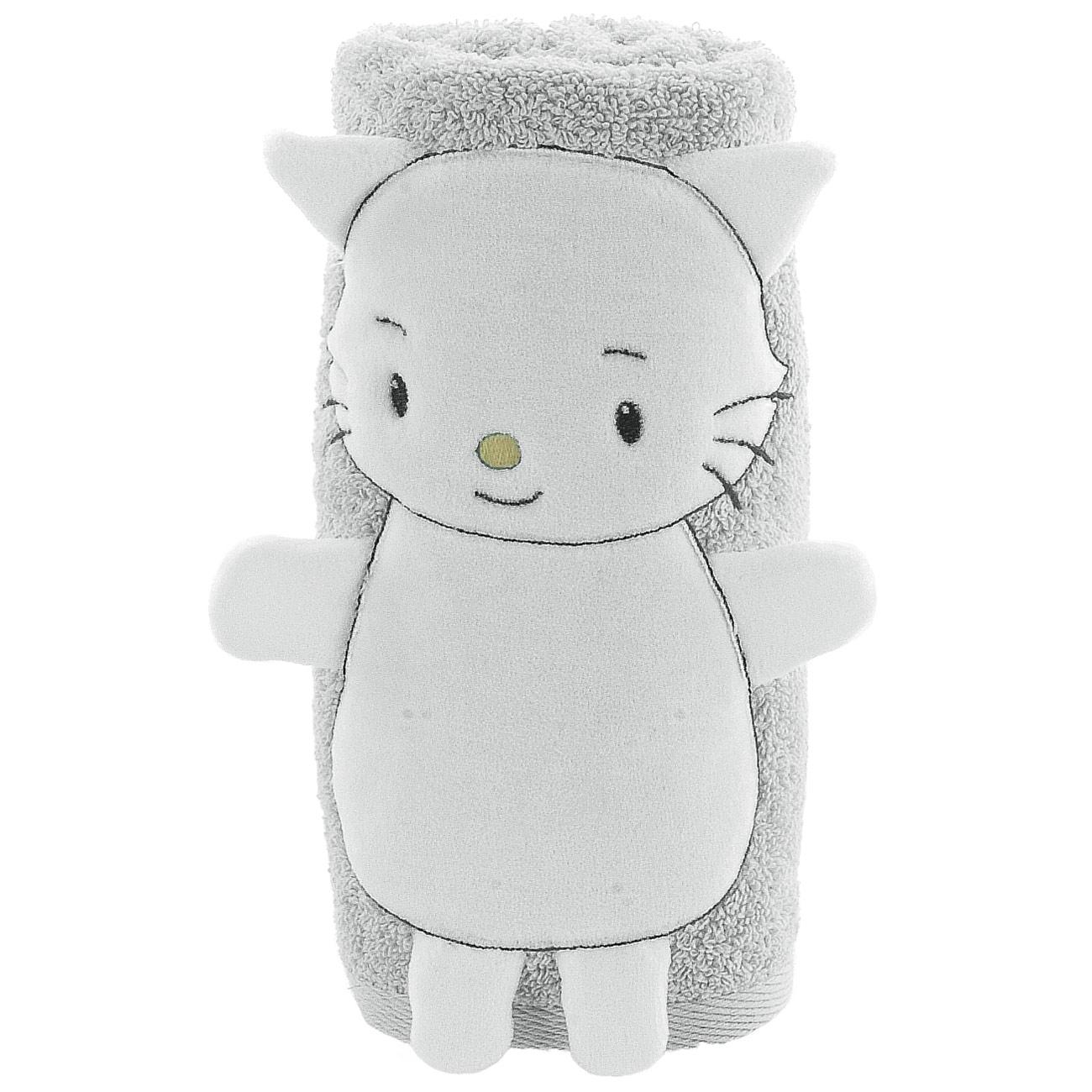 serviette de bain petit chat rigolo glacier homebain vente en ligne serviettes de toilettes. Black Bedroom Furniture Sets. Home Design Ideas