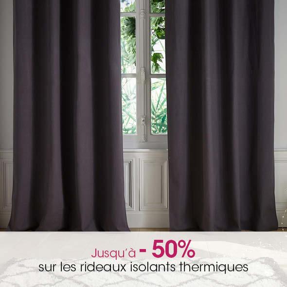 + de rideaux isolants thermiques