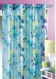 Voile brillant imprimé fleur Aqua