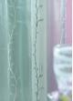 Voilage organza brodé bouton de fleurs Aqua