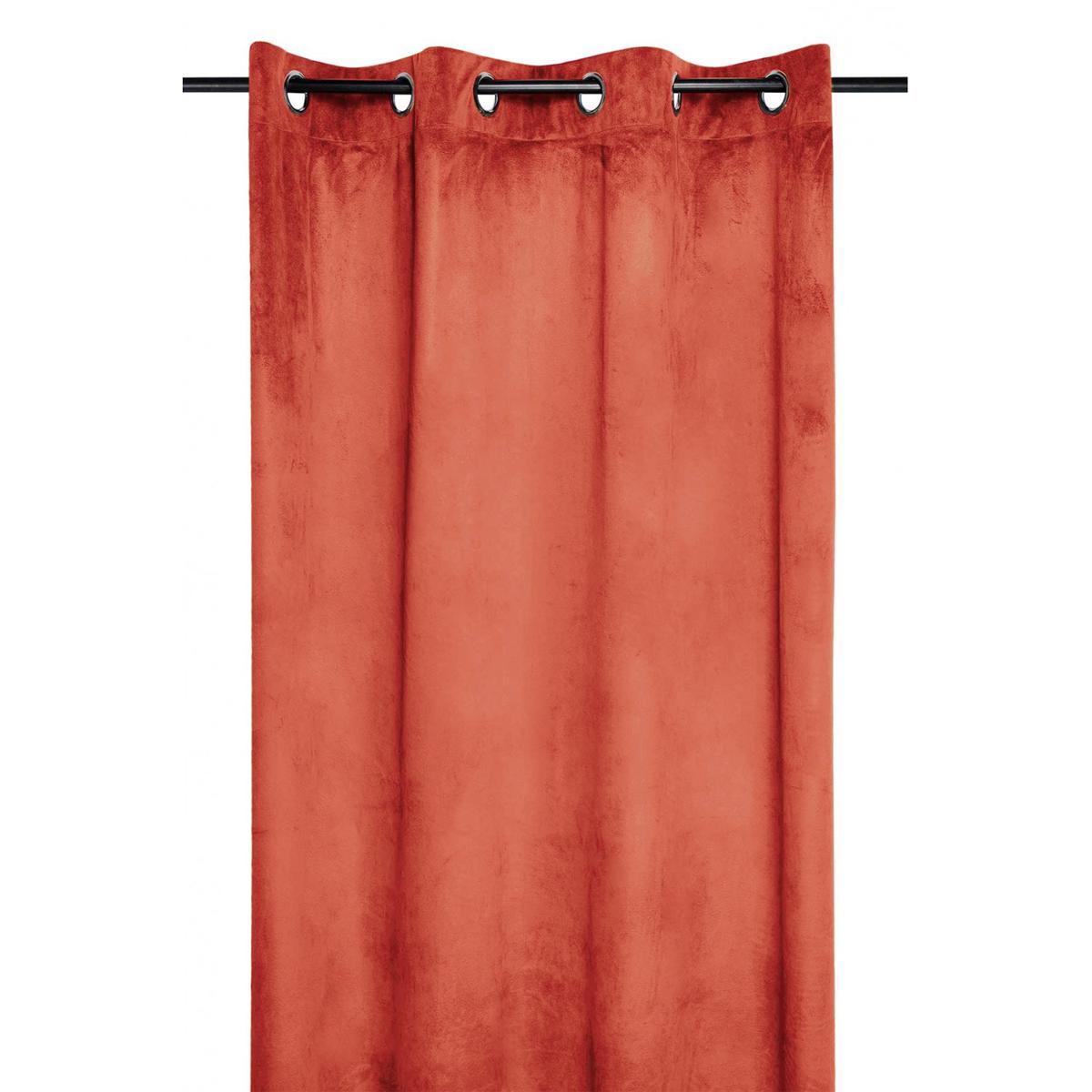 Rideau épais Uni Aspect Velours (Terracotta)