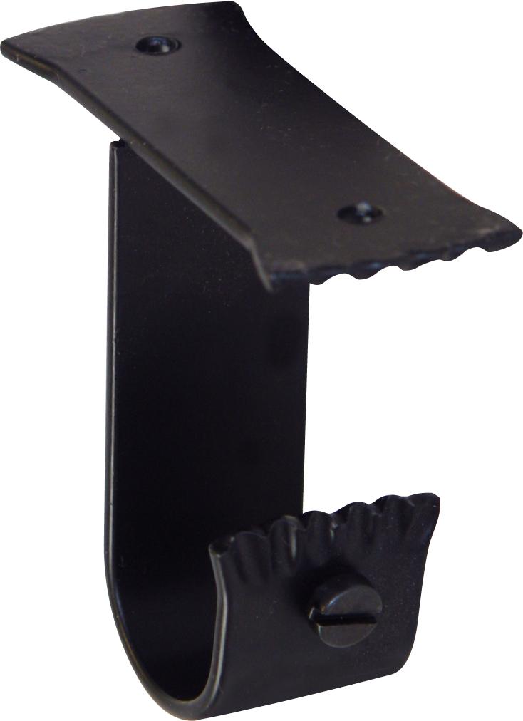 Paire de Supports Plafond en Fer Forgé Noir diam 28mm (Noir)