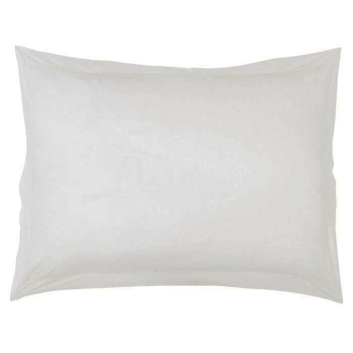 Taie d'oreiller recouvrement ton sur ton 50 x 70 cm (Blanc)