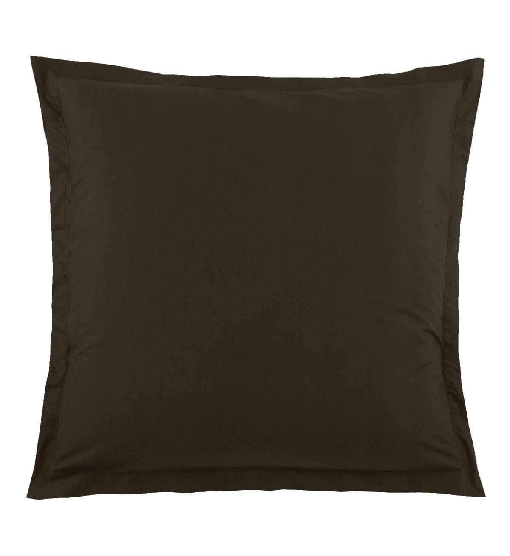 Taie d'Oreiller Unie en 100 % Coton - Taupe - 65 x 65 cm