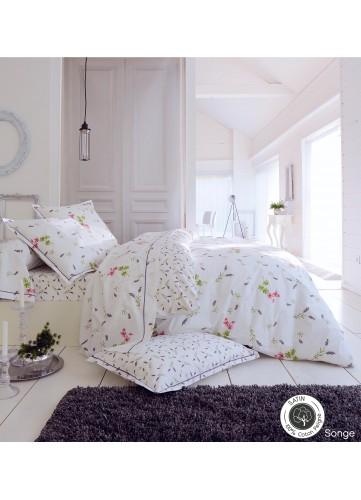 Parure Songe - Blanc - 1 D 180X290 + 1 Taie 65x65 + 1 DH 90X190