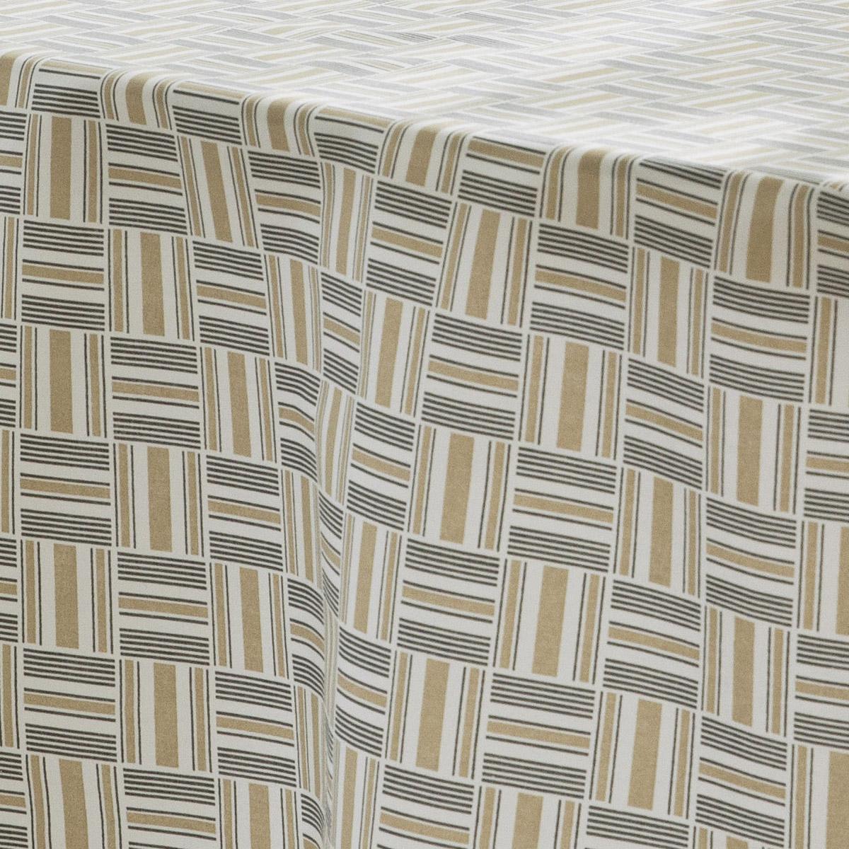Nappe ronde aux motifs géométriques - Beige - DIAMETRE 170 cm