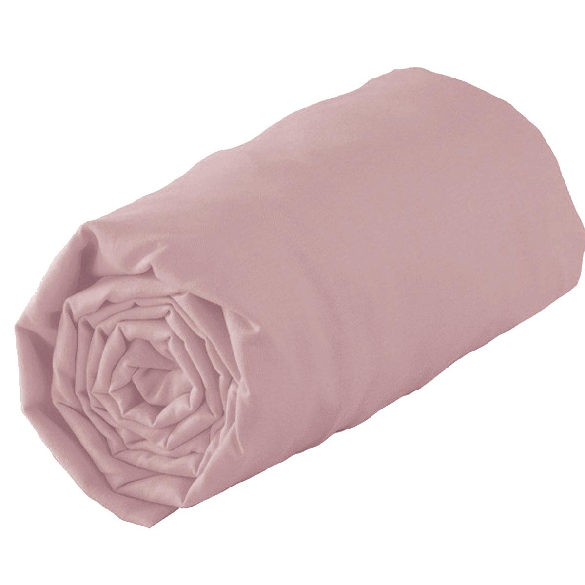 Drap housse en 100% coton biologique - Blush - 160 x 200 bt 30 cm