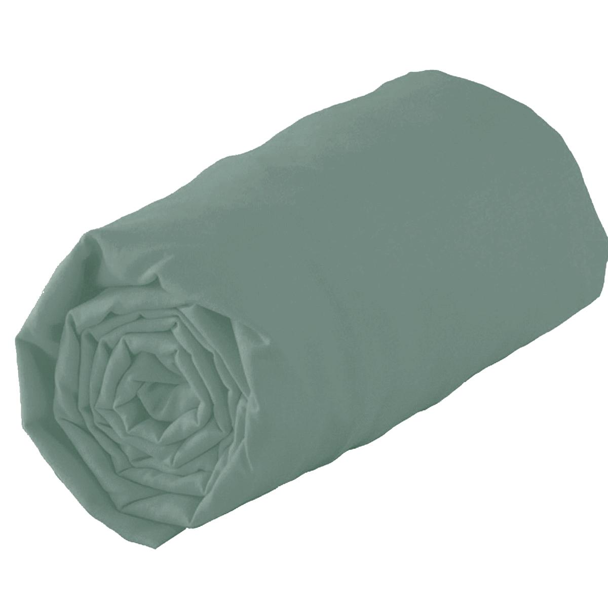 Drap housse en 100% coton biologique - Bronze - 160 x 200 bt 30 cm