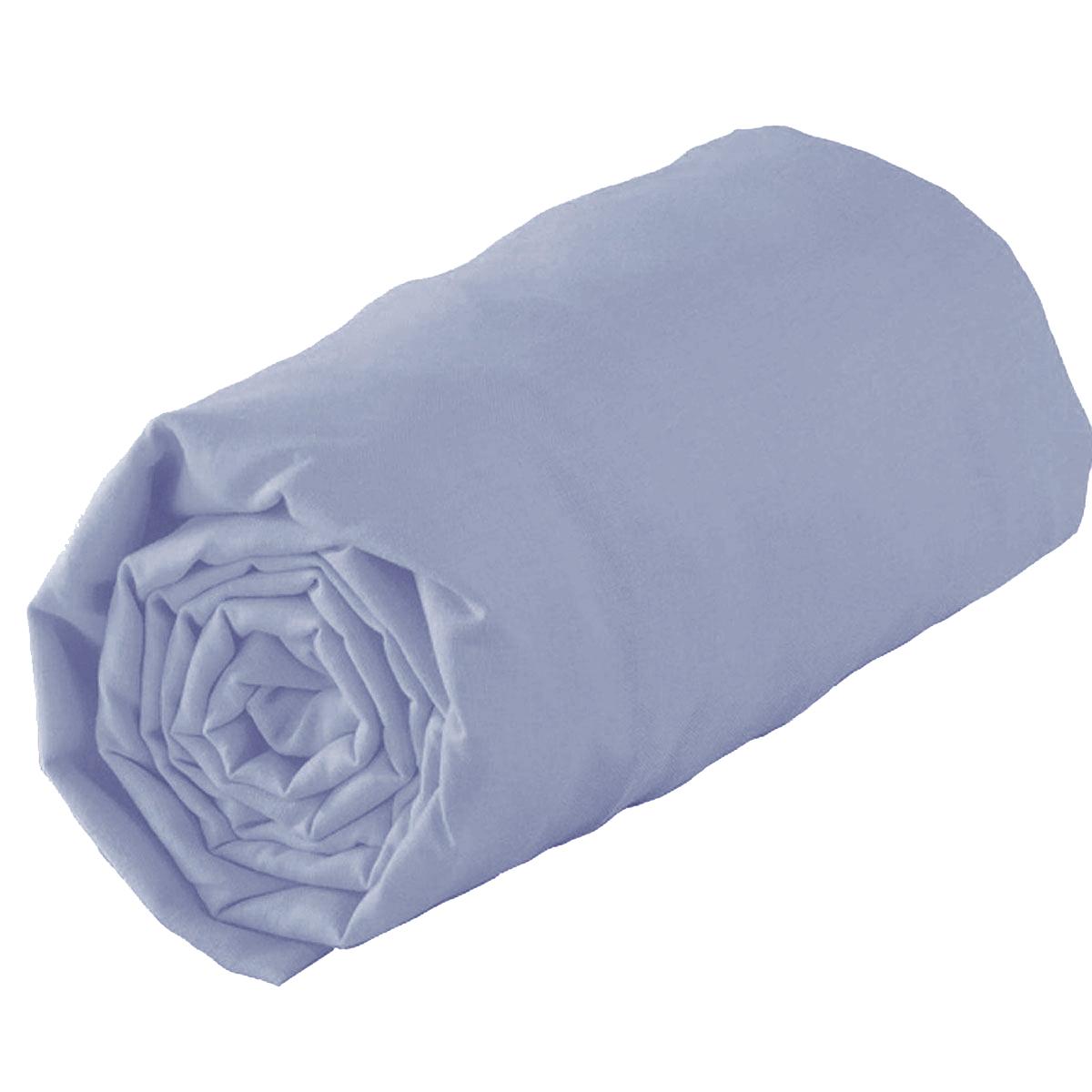 Drap housse en 100% coton biologique - Indigo - 160 x 200 bt 30 cm