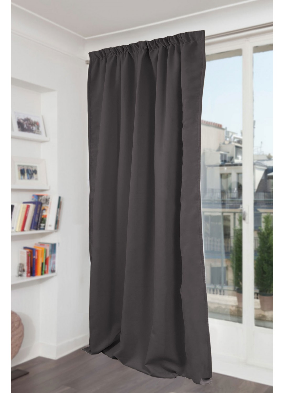 rideau galon fronceur m tal galet p lican noir. Black Bedroom Furniture Sets. Home Design Ideas