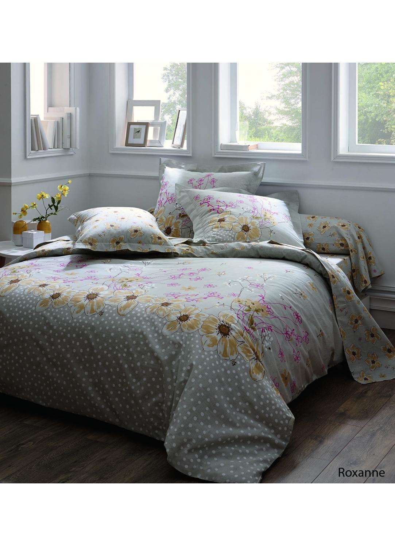 Taie d'oreiller roxanne à imprimés fleurs jaunes (Multicolore)