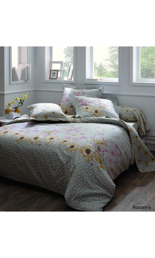 Drap-housse roxanne à imprimés fleurs jaunes (Multicolore)