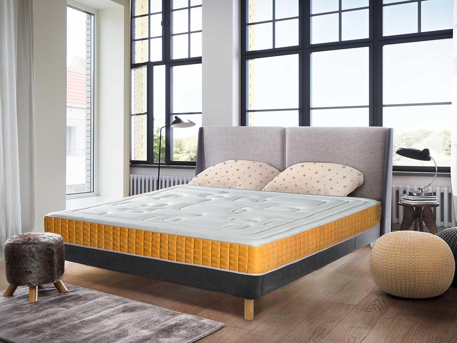 matelas en mousse haute densit blanc homemaison vente en ligne matelas. Black Bedroom Furniture Sets. Home Design Ideas