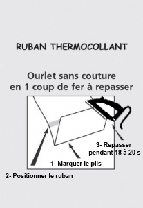 Pose d'un ruban thermocollant