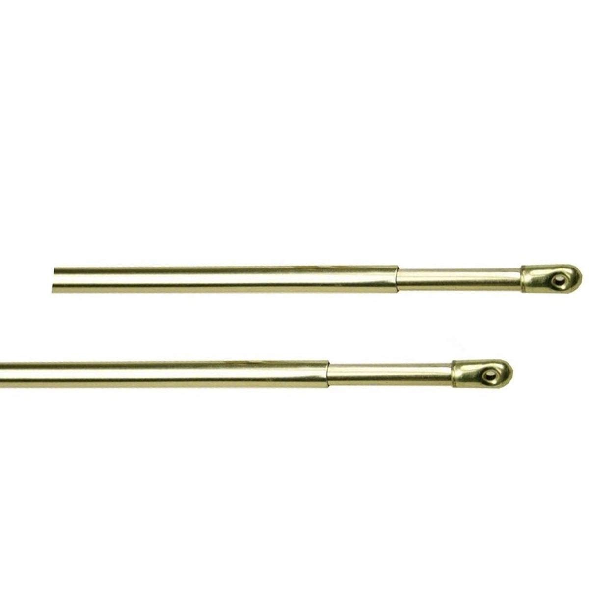 2 Tringles pour Vitrage à Poser Dorée 70 à 110 cm (Dorée)
