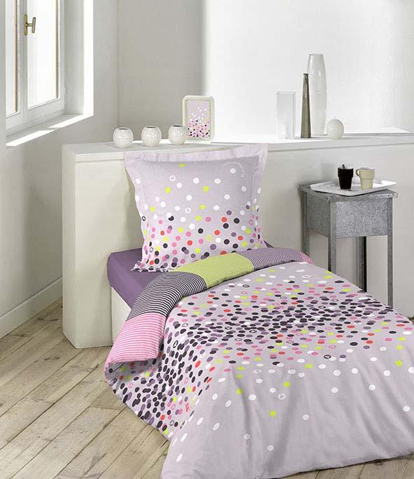parure 2 p 140x200 lulu castagnette confettis multicolore homemaison vente en ligne. Black Bedroom Furniture Sets. Home Design Ideas